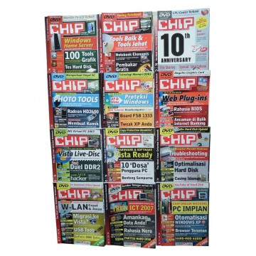 Majalah CHIP Jan-Des 2007 (12 Edisi)