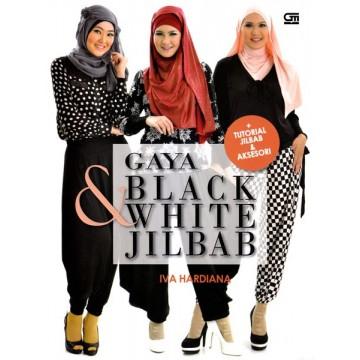 Gaya Black & White Jilbab